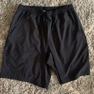 Black Lululemon athletic shorts